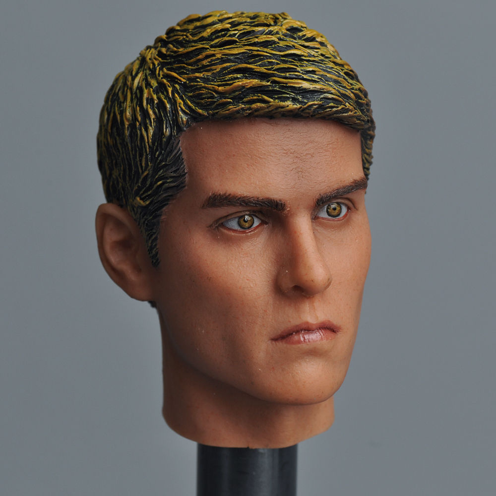 Tom Cruise 1/6 Scale Male Head Sculpts Model Toys Man Head Carving Model For 12 Action Figure Body Accessory Collections Freesh 1 6 scale head sculpt km36 angelina jolie head 12 female action figure doll head carving model toys