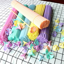 10 Sets/lot 40cm Latex Balloon Stick Macaron PVC Rods Foil Balloons Holder Sticks with Cup Party Decoration Accessories Supplies