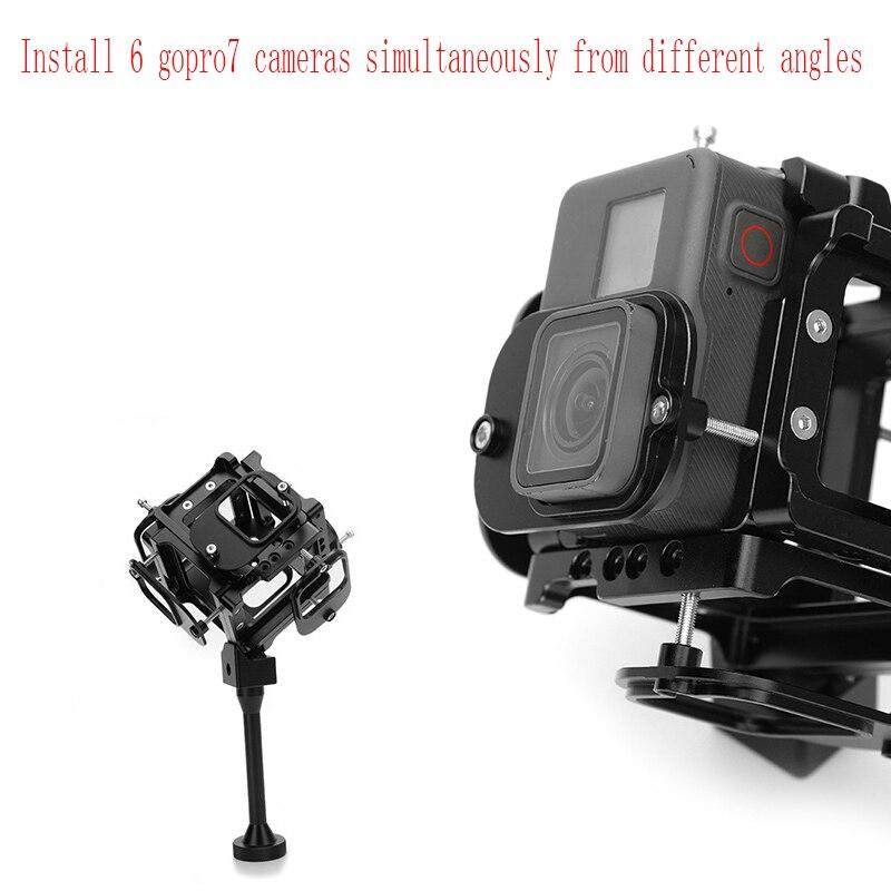 Suporte panorâmico de alumínio para câmera, suporte