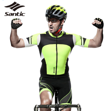 Santic PRO Cycling Jerseys  MenCycle Cycling Clothing  Kits Sets MTB Road Bike Shirt Tops Padded Bicycle Shorts Ropa Ciclismo