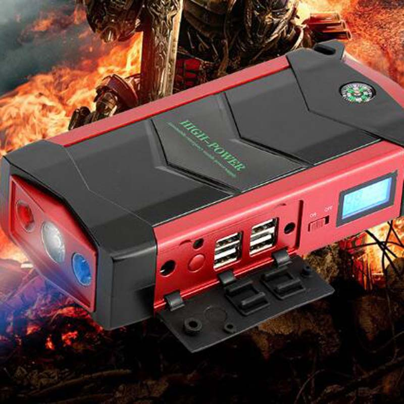 69800mAh Car Jump Starter Portable Power Bank 12V 4USB Car Battery Booster Charger for phone Laptop SOS light Seat blet cutter купить