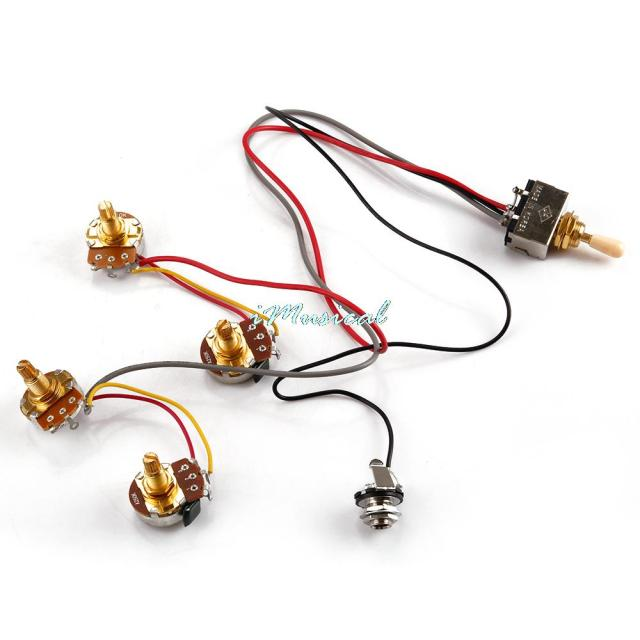 Electric Guitar Wiring Harness Kits 2V 2T 3 Way Toggle Switch 250K Pots Durable_640x640 electric guitar wiring harness kits 2v 2t 3 way toggle switch 250k guitar wiring harness kits at gsmx.co