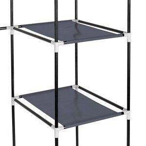 Image 4 - DIY Собранный нетканый шкаф для одежды многослойный пылезащитный шкаф для хранения одежды шкаф для спальни одеяло разное Органайзер стойка