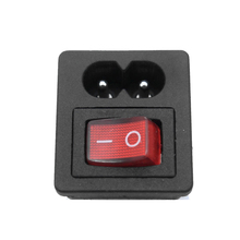 цена на 5Pcs IEC320 C8 Power Cord Inlet Socket receptacle With ON-OFF Red Light Rocker Switch 250V 2.5A FOR Computer Amplifier CCC CE TU