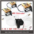 Diamante Extrusora Hotend kit Completo-Lite6 Latón Boquilla Múltiple 3 EN 1 FUERA 0.4mm For1.75mm con MK8 paso motor completo kit para Prusa I3