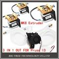 Diamante kit Hotend Extrusora Completa-Lite6 Latão Bocal Multi 3 EM 1 FORA 0.4mm For1.75mm com MK8 motor de passo kit completo para Prusa I3