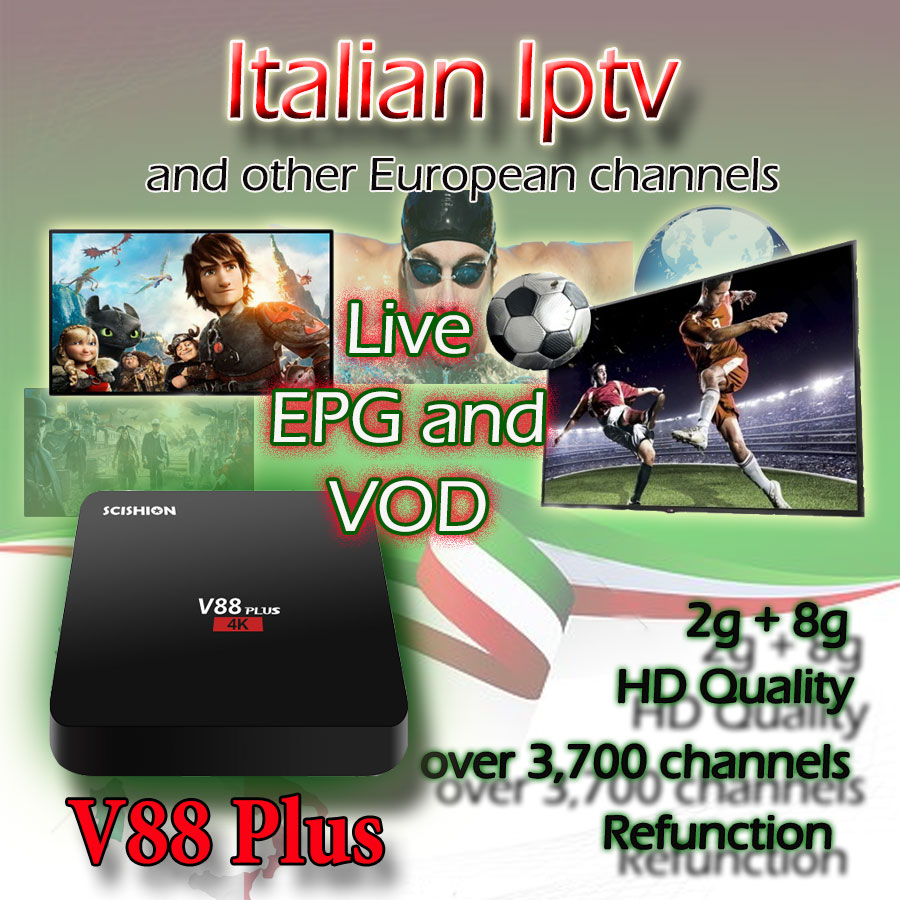 newest 2f6c8 eea54 UK USA iptv V88 plus Android EPG REPLAY FUNCTION Europe ...