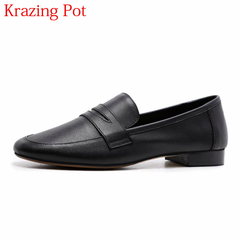 2018 Superstar Genuine Leather Slip on Retro Classic Glove Grandma Shoe Women Pumps Low Heels Elegant Round Toe Casual Shoes L99 2018 superstar genuine leather streetwear med heels tassel slip on women pumps round toe retro sweet handmade casual shoes l03