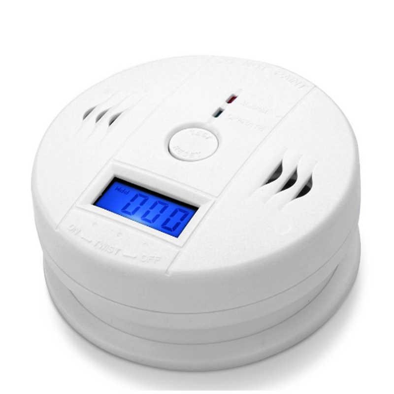 Портативный датчик углекислого газа CO, с ЖК-дисплеем и компактным детектором сигнализации для домашней безопасности, бесплатная доставка