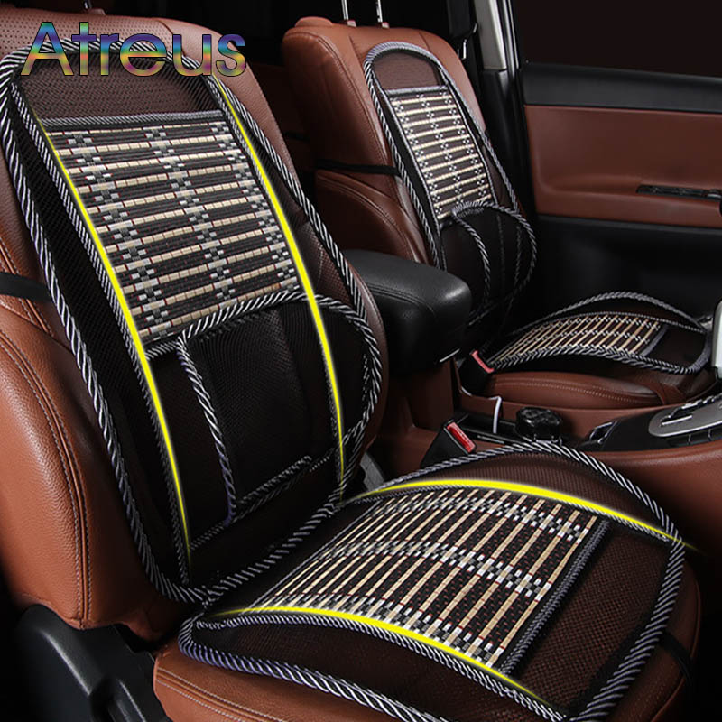 ФОТО Universal Car Cool Seat Covers Lumbar Support Cushion for Car Chair Sofa Office Waist for Back for Man/Women Travel Accessories