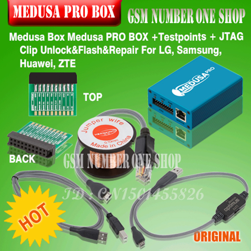 Original new Medusa PRO Box Medusa Box  + JTAG Clip MMC For LG For Samsung For Huawei with Optimus cable-in Telecom Parts from Cellphones & Telecommunications    1