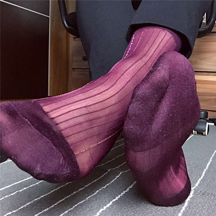 SORRYNAM 2017 Good Quality Men Stockings Thin Nylon Stockings Vintage Socks Striped Socks Formal Dress Suit Sock Sexy Sox