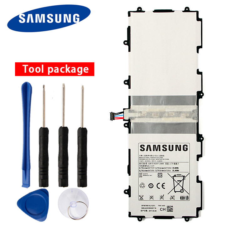 Original <font><b>Samsung</b></font> SP3676B1A Battery For Galaxy Note 10.1 <font><b>GT</b></font>-N8000 N8005 N8013 N8020 P7500 <font><b>GT</b></font>-<font><b>P7510</b></font> P5100 P5113 7000mAh image