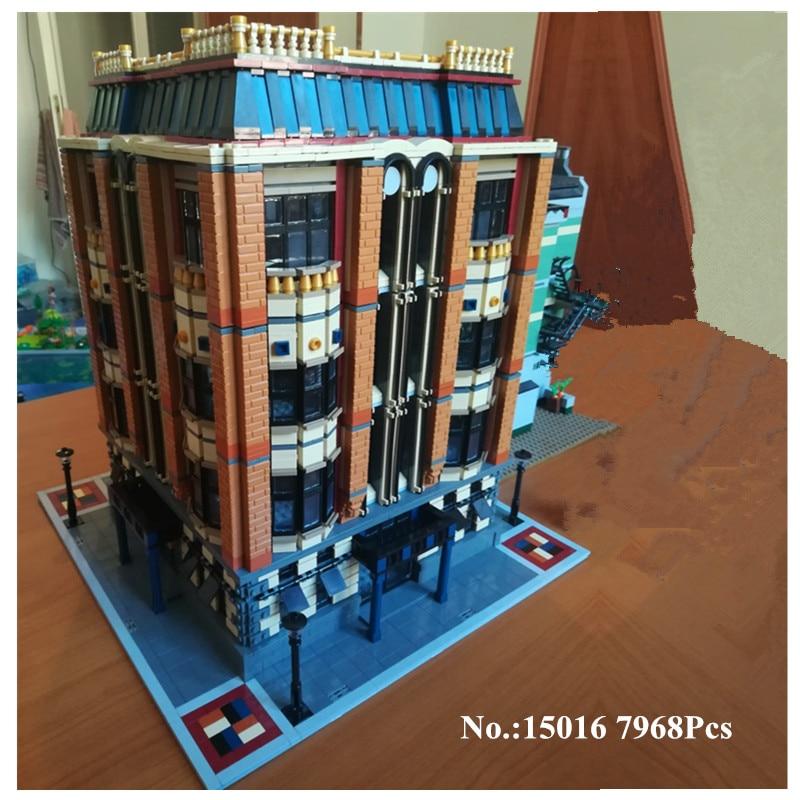 H&HXY IN STOCK Free Shipping F2017 15016 7968pcs MOC Creative The Apple University Set Building Blocks Bricks  lepin DIY Toys in stock h