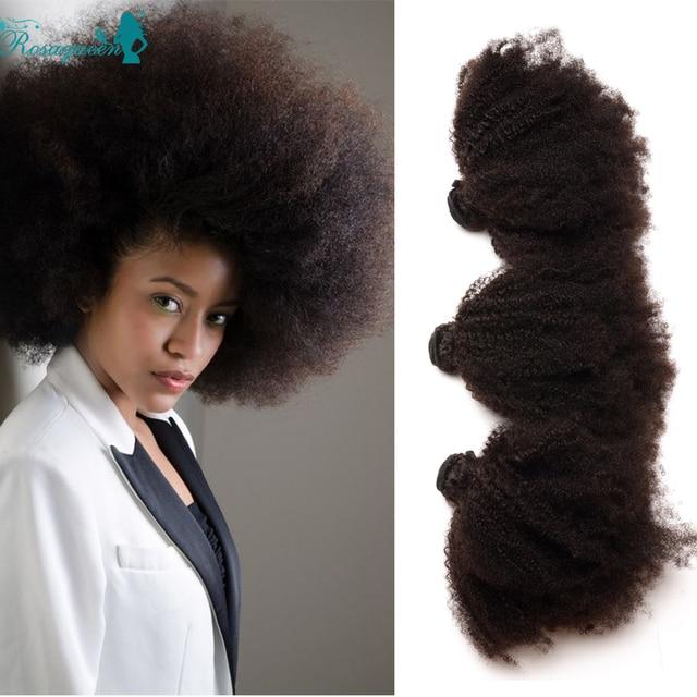 Afro Kinky Curly Virgin Hair Unprocessed Burmese Virgin Hair 6A Grade Curly Hair Bundles Rosa Queen Hair Products 3 Bundle Deals