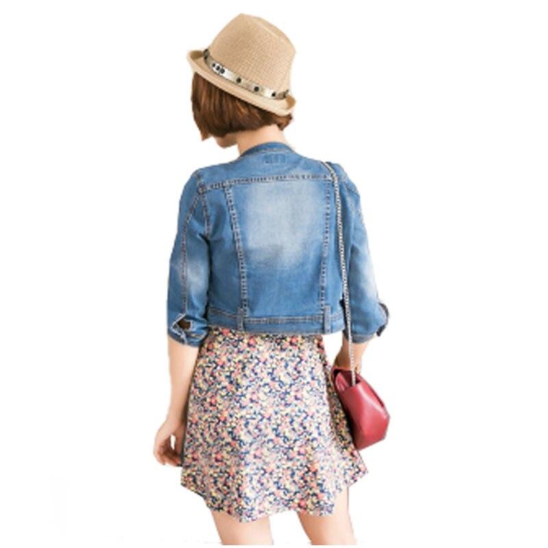New Arrival vår / Mäns korta denim jackor vintage casual coat - Damkläder - Foto 2