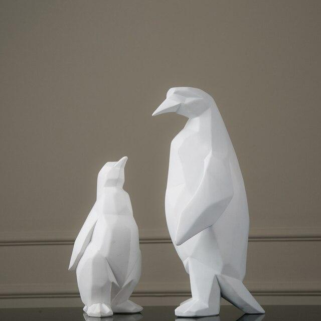 New Nordic Style Animal Sculpture White Geometric Penguin Quality