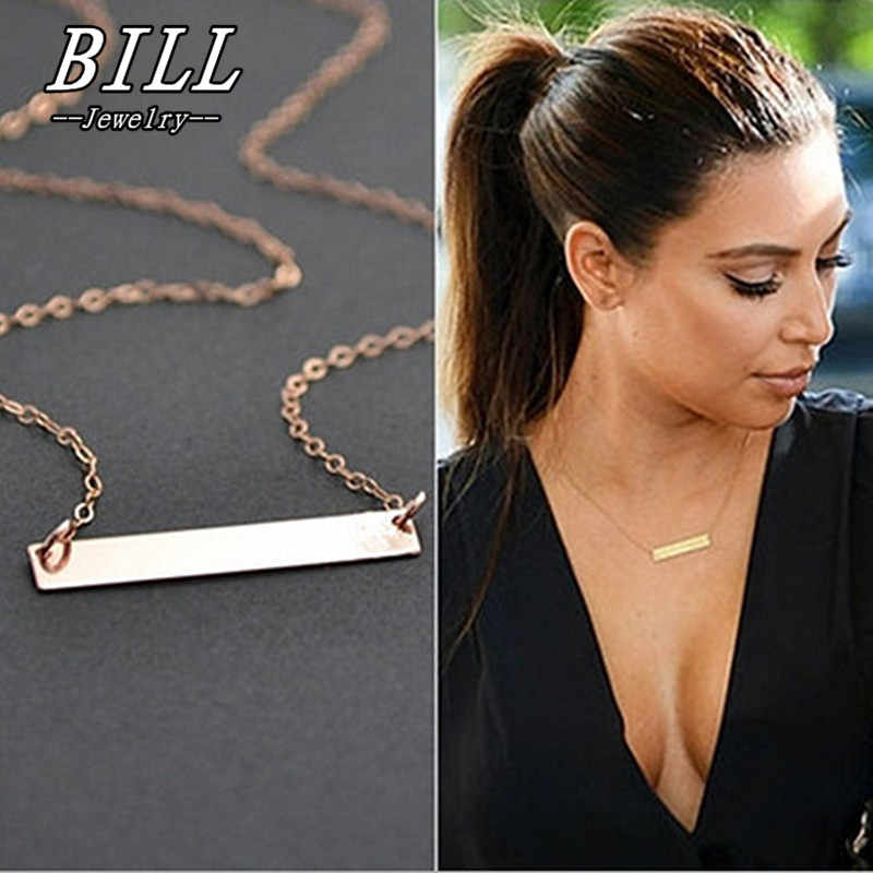 N729 Geometric Bar Women Clavicle Necklace Fashion Jewelry Summer Beach Collares Minimalist Bijoux Bohemian 2018 HOT Selling