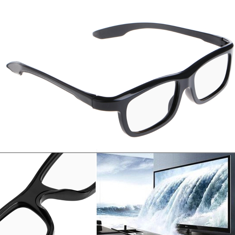 3D Passive Glasses Black RD3 Circular Polarized 3D Viewer Cinema Pub Sky Cinema L060 Nnew hot in 3D Glasses Virtual Reality Glasses from Consumer Electronics
