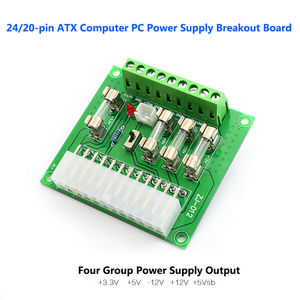 24/20pin 1Pc ATX Computer PC Power Supply Breakout Board Adapter Extension Module Switch Control Easy Use CE1146(China)
