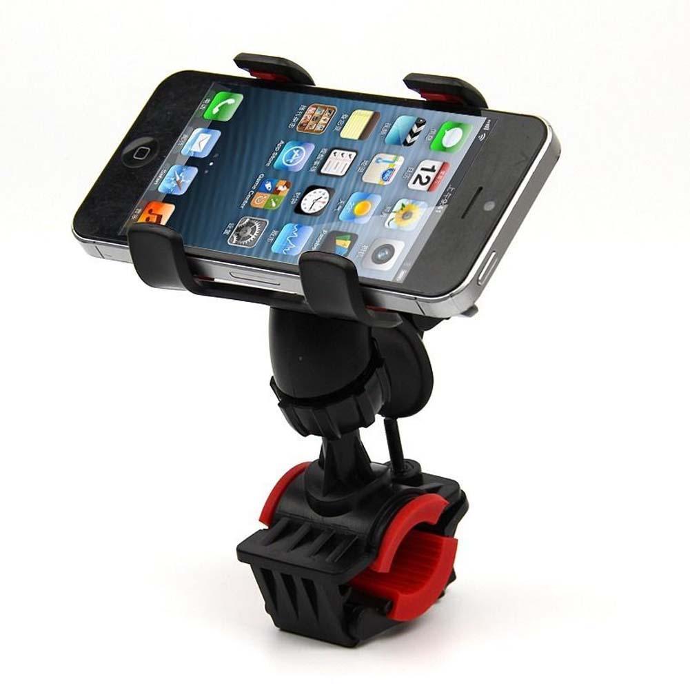 motorcycle bicycle mtb bike phone holder adjustable handlebar mount holder shockproof support. Black Bedroom Furniture Sets. Home Design Ideas