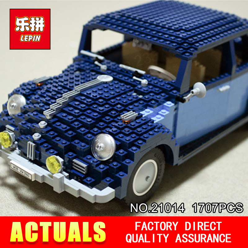 DHL New LEPIN 21014 1707Pcs Classic Beetle Model car Building Kits Blocks Bricks for Holiday Toys 10187 lepin 21014 the ultimate beetle building bricks blocks toys for children boys game model car gift compatible with bela 10187