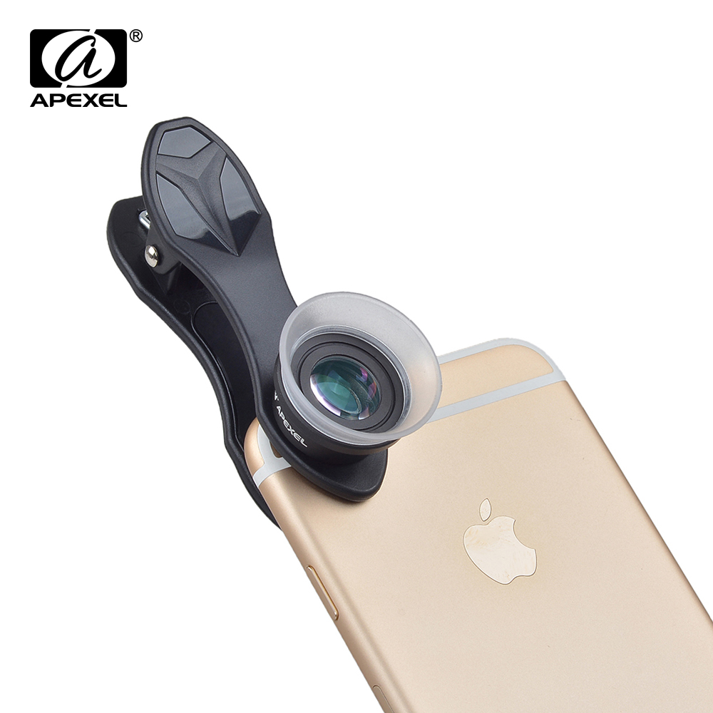 Image 4 - APEXEL 10pcs/lot Phone Lens, 2 in 1 12X Macro+24X Super Macro Camera Lens Kit for iPhone Samsung Xiaomi Red Smartphones APL 24XM-in Mobile Phone Lens from Cellphones & Telecommunications