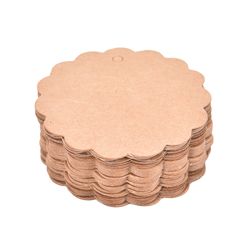 100Pcs Blank Brown Kraft Tags Round Paper Marked Cards Diy Craft Gift Tags Wedding Favor Box Decorations
