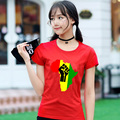 20017 Summer Fashion Style AFRICA Power Rasta Reggae Music Logo Women T-shirt Cotton Print short sleeve High-quality T Shirt