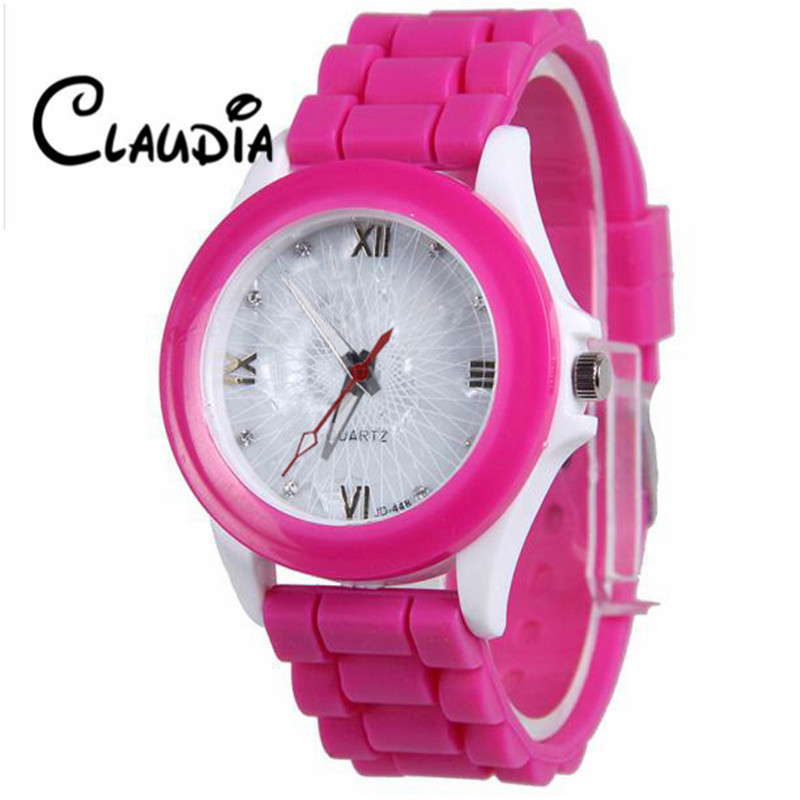 2017 GENEVA Sports Quartz Watch Women Silicone Rubber Jelly Gel Analog Watches Girl Running Wrist Watch relogio feminino CLAUDIA battery 48v 14 5ah 1000w for panasonic cell lithium battery 48v with 2a charger built in 30a bms ebike battery 48v free shipping