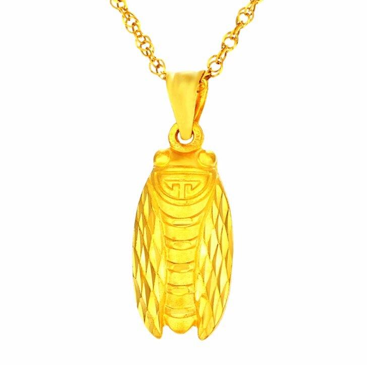 Новый аутентичный твердый 999 24 K Желтый Золотой мужской золотой кулон Цикада 3,8 г