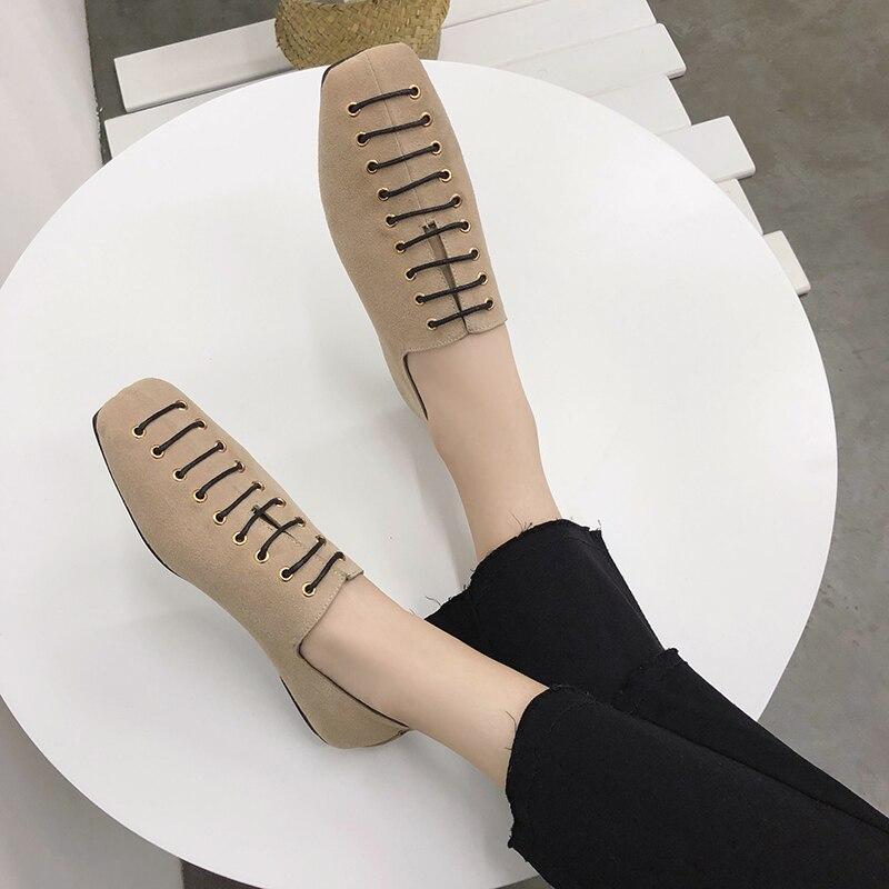 3dac7664e5 preto De Nubuck amarelo Amarelas 2018 Sapato Mulheres New Laçadas As Para  Loafers Bege Mujer Flats Phyanic Primavera Couro Senhoras ...