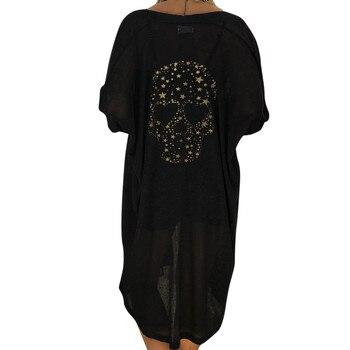 Women Long Cardigan Skull Print Long Sleeve Outerwear