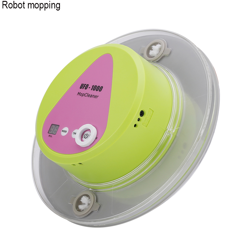 Cordless AUTO floor cleaner UFO-1000 mini robot mopping dry /wet mop with big water tank timming function rechargable battery