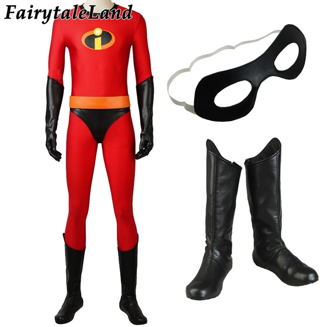 mr incredible bob parr cosplay costume superhero halloween costumes the incredibles 2 spandex jumpsuits mr