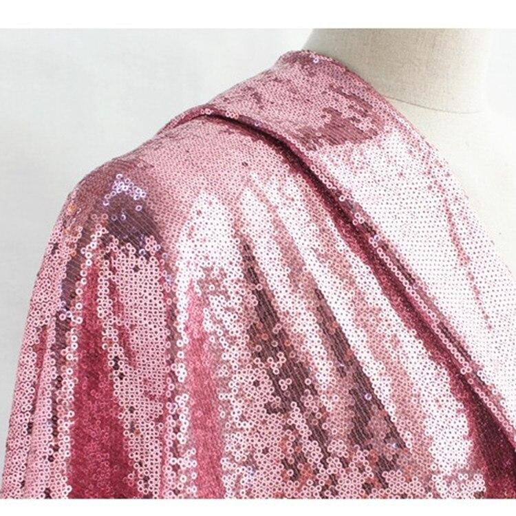 5 yards 3mm paillettes paillettes scintillantes tissu pour mariage/événement/fête/danse Costume scène arrière-plan accessoires de vêtement de mariage