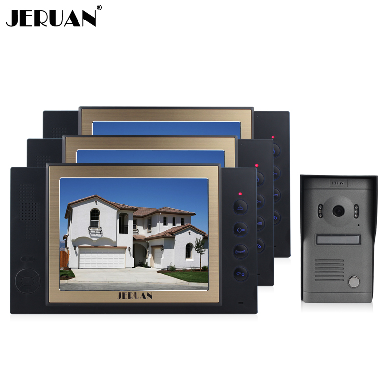 JERUAN 8`` video door phone intercom system doorbell with recording photo taking outdoor rain-proof doorphone speaker intercom jeruan new doorbell intercom doorphone wireless video door phone with memory image station outdoor night vision function