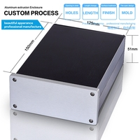 YGW 011 125*51*180/4.92''x2.0''x7.08''(wxhxl)mm Aluminium Preamp Case Pre amp Enclosure