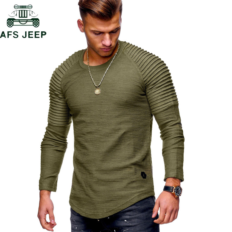 New 2018 Fashion Summer Military Army T Shirt Men Long Sleeve O-Neck Casual Slim fit Mens <font><b>TShirts</b></font> Plus Size 3XL tee shirt homme image