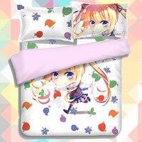 Anime Cartoon Eriri Spencer Sawamura Quilt Cover Soft Printed Bedding Set Duvet Cover Set No 1