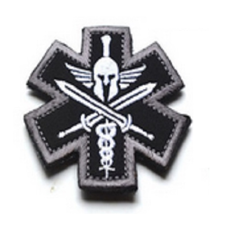 Apparel Sewing & Fabric 3d Spartan Medic Tactical Embroidered Military Emt Morale Badge Arts,crafts & Sewing