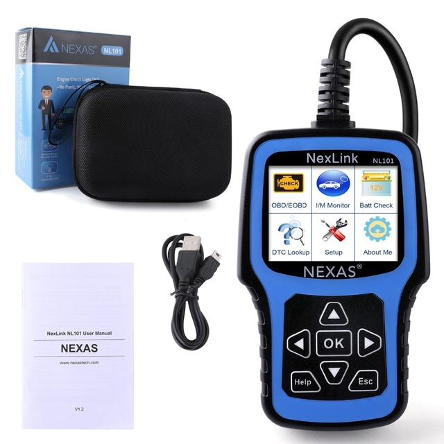 OBD2 Scanner Auto Diagnostic Tool Nexas NL101 with Battery Test for Car Diagnosis Car Scanner Universal OBD Engine Code Reader