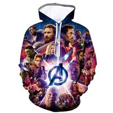 все цены на Qrxiaer Avengers Endgame Sweatshirt Belt Hoodie Autumn Winter 3D Print Cosplay Costumes superhero Iron Man Hoddies