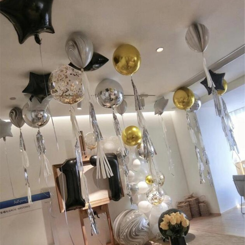 Foil balloons 2pcs/lot22 inch 4D golden balloon baby birthday party decoration wedding air ballon inflatable helium kids toys