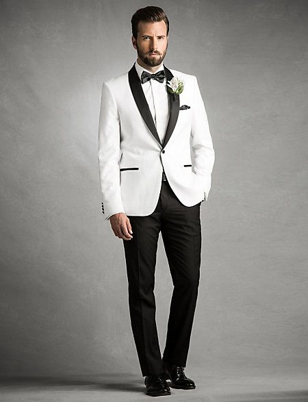 Men White Wedding Suits 2017 Slim Fit Groom Tuxedos Groomsman Blazer For 3 Piece Jacket Pants Bow Tie In From S Clothing