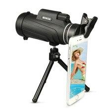 50X52 telescopio monocular BAK4 Monocular alcance de HD prisma con trípode clip de teléfono brújula para actividades al aire libre
