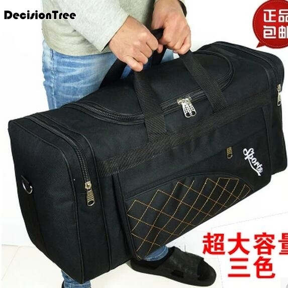 e65d11351 Large Capacity Travel Bags Men Women Waterproof Shoulder Travel Duffle Bags  Oxford Cloth Big Travel Handbag Folding Bag For Trip