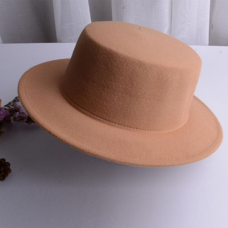 e9a8e0f36 Hot Sale] vintage wide brim black fedora hat pork pie hat men ladies ...