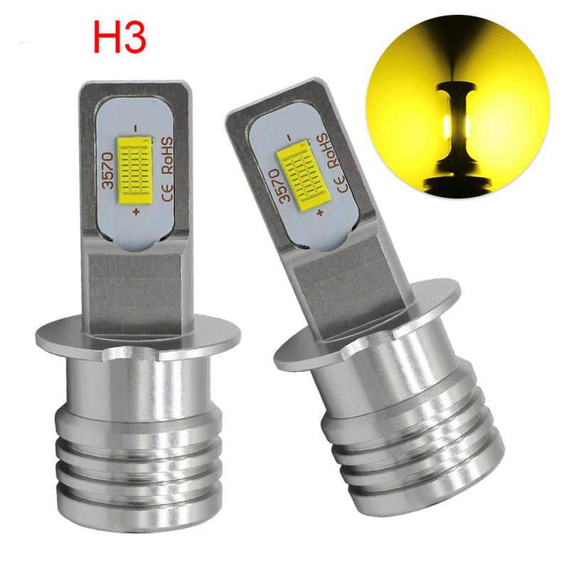 2PCS 72W 3200LM H10 H16EU H11 H7 H4 H3 H1 9006 9005 881 880LED Fog Light 3570 Chips LED Fog Blubs White Daytime Running Lights