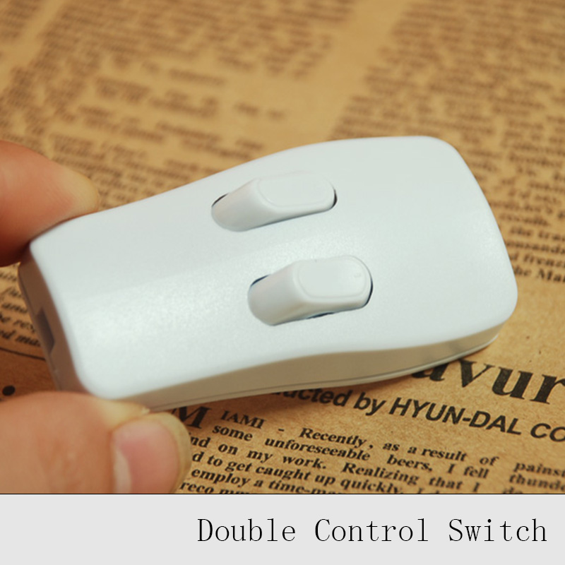 1pc/Lot 220V Lamp Double Control Switch Lighting Accessories CQC CE Floor Lamp Double Control Push Buttton Switch foot push lamp dimming switch floor lamp table lamp dimmer switch good quality diy lighting line control switch 1pc lot